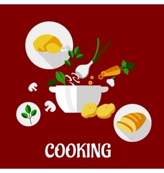 Cooking flat design vector