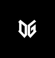 dg logo monogram with shield shape design template vector image
