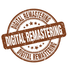 Digital remastering brown grunge stamp vector