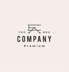 Ea ae letter mark initial hipster vintage logo vector