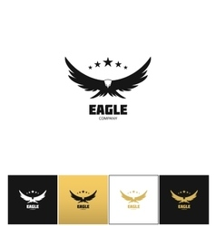 Eagle company icon vector