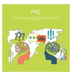 FAQ information sign icon vector