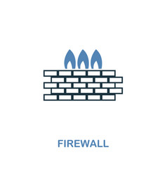 firewall icon in two colors premium design from vector image