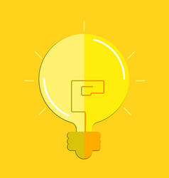 Flat lightbulb vector