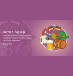 German language banner horizontal cartoon style vector