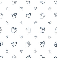 Glove icons pattern seamless white background vector