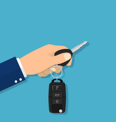 hand holding car key vector image