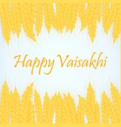 Happy vaisakhi punjabi spring vector