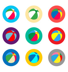 icon logo for set symbols beach ball vector image