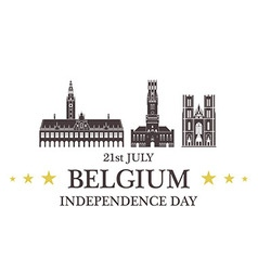 Independence Day Belgium vector image