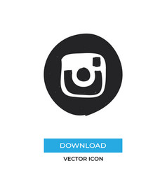 instagram logo icon simple car sign vector image