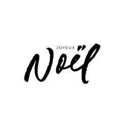 joyeux noel modern brush calligraphy vector image
