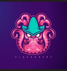 krakenoctopus mascot icon logo image vector image