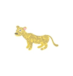 Leopard icon in cartoon style vector