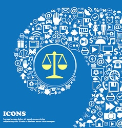 Libra icon Nice set of beautiful icons twisted vector