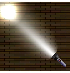 Light Flash on Dark Brick Background vector image