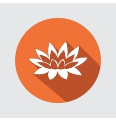 Lily lotus flower icon Waterlily floral symbol vector image