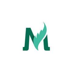 logo letter m and wing vector image
