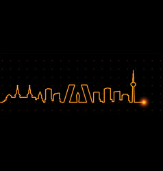 Madrid light streak skyline vector