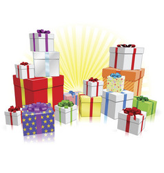 Many gifts concept vector