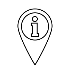 Map pointer with information line icon vector