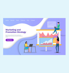 marketing site template consumer research vector image