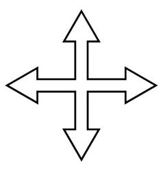 Maximize Arrows Thin Line Icon vector