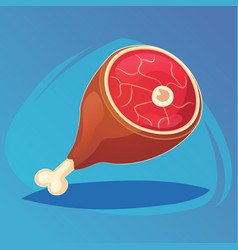meat steak dinner lunch food icon vector image