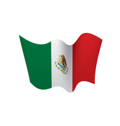 mexican flag royalty free vector image vectorstock rh vectorstock com  waving mexican flag vector