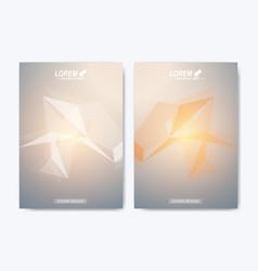 modern template for brochure leaflet vector image