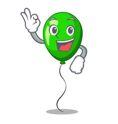 Okay green baloon on left corner mascot vector