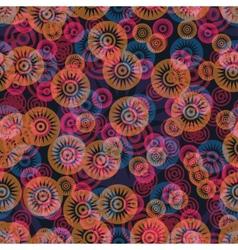 Ornate flowers seamless pattern vector image