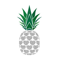 Pineapple sign with hearts for t-shirt tropical vector
