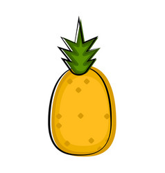pineapple sketch icon vector image