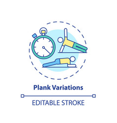 Plank variations concept icon vector