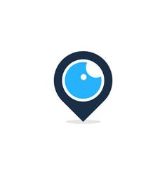 point eye logo icon design vector image