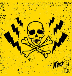 Punk rock set punks not dead words and design vector