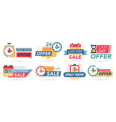 sale countdown tags last minute badges special vector image