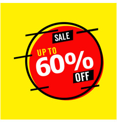 Sale up to 60 off template design vector