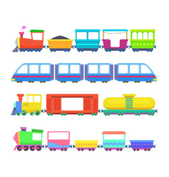 Set different kids trains games vector