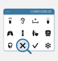 Set of 12 editable clinic icons includes symbols vector