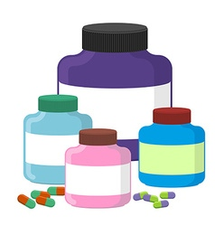 Set sport Nutrition Supplement containers S vector