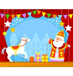 Sinterklaas puppets vector image