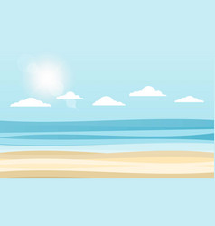 Sky sea and sun vector