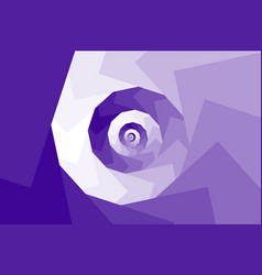spiral from squares vector image