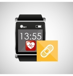 Square smart watch health cure band vector
