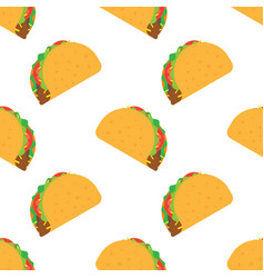 Tacos seamless pattern vector