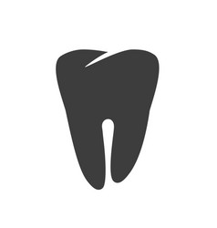 tooth icon or dental care black and white vector image