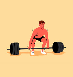 Training sport lifting strength fitness vector