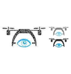 video spy drone mosaic icon irregular pieces vector image